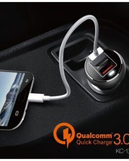 Cargador Coche MOXOM KC-13 Quick Charge 3.0 + Cable MicroUSB